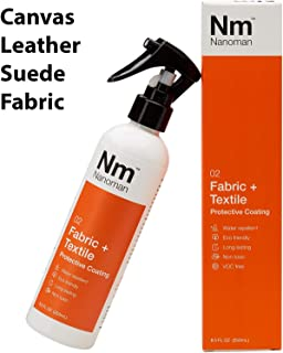 Water Repellent/Waterproof Spray for Fabric & Shoes. Latest Nano-Technology Formula. Eco friendly. No Fluoropolymers or Alcohols. Stain & Liquid Protection Spray for Fabric incl. Couch, Sofa