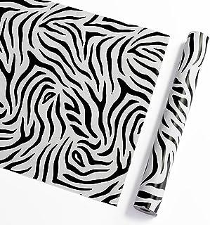 comprar comparacion Vinilo autoadhesivo con diseño de rayas de cebra, papel de contacto decorativo para armarios, cajones, vestidores y manual...