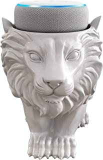 Dekodots Smart Speaker Table Stand (Lion) - Decorative Holder for Amazon Echo Dot or Google Home Mini - Portable Design, No Sound or Microphone Interference - Durable Poly-Resin