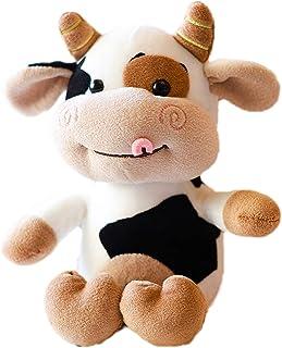 Ruzucoda Milk Cow Stuffed Animals Cattle Toys Cute Aniaml Dolls Birthday Gifts 11 Inches