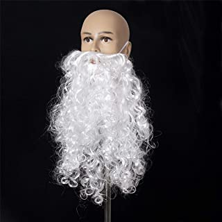 A-cool 2018 Funny Costume Party Male Man Halloween & Christmas Beard Facial Hair Disguise Game White Mustache Top Quality (19.7 Inchs)