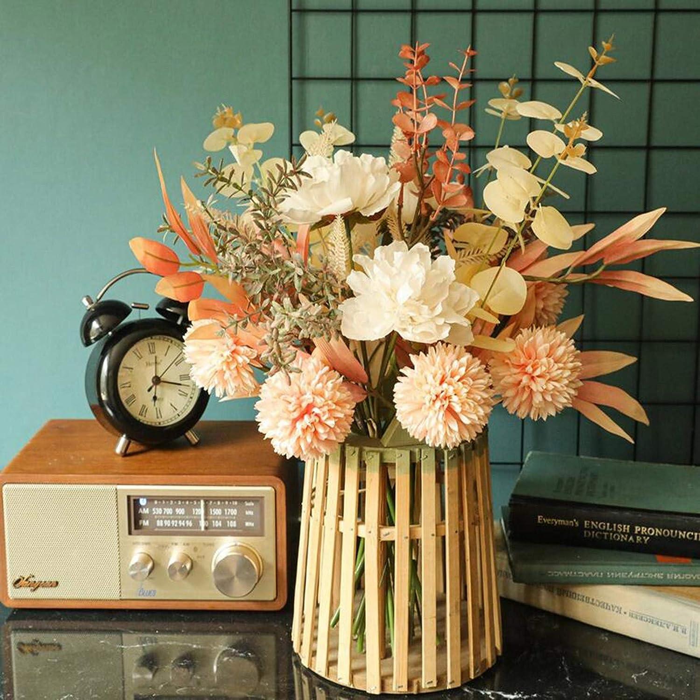 U D Artificial Flowers Fake Bouquet Peony Hydrangea In a ...