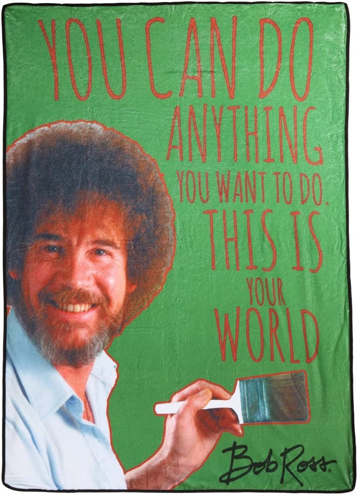 Bob Ross Spring new work This is Your Throw Fleece Max 71% OFF Blanket World