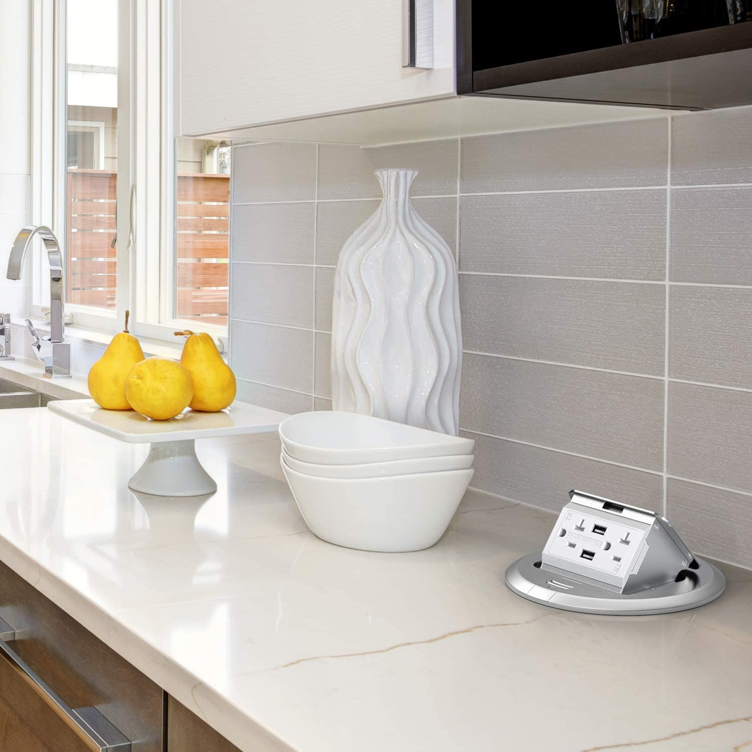 Buy WEBANG Round Pop Up Floor Outlet Covers Box with 9 Amp ...