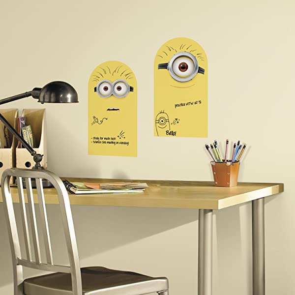 RoomMates Minion Dry Erase Peel And Stick Wall Decals