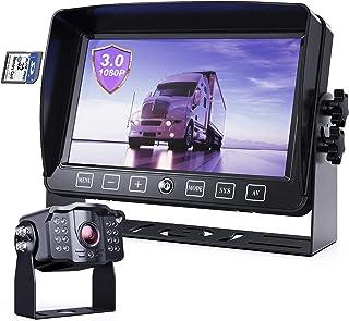 eRapta Backup Camera System 3.0 Touch AHD Monitor View RV Camera Kit DVR Split Screen IP69 Waterproof Backing Up Camera fo...