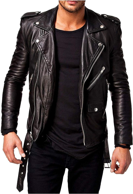 Best Seller Leather Men's Leather Jacket XXL Black