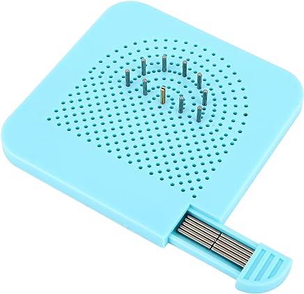 copie de contour bleu HOWATE Duplicateur de contour de gabarit en plastique pour le travail du bois Outil de mesure de trace Guide de gabarit de 12,7 cm jauge de profil de cadre circulaire lign/é