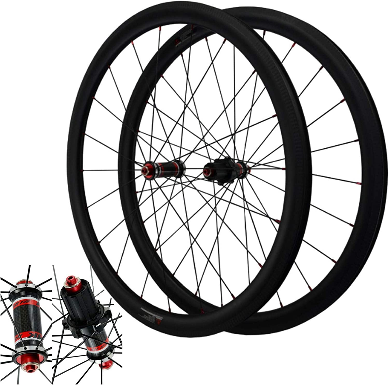 SJHFG Bicycle Wheelset 700C Carbon Popular standard Popularity Straigh Brake V C Fiber