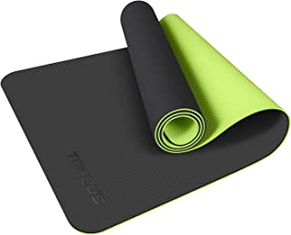 TOPLUS Yoga Mat - Upgraded Yoga Mat Eco Friendly Non-Slip Exercise & Fitness Mat with Carrying Strap, Workout Mat for All Type of Yoga, Pilates(1/4 inch-1/8 inch)