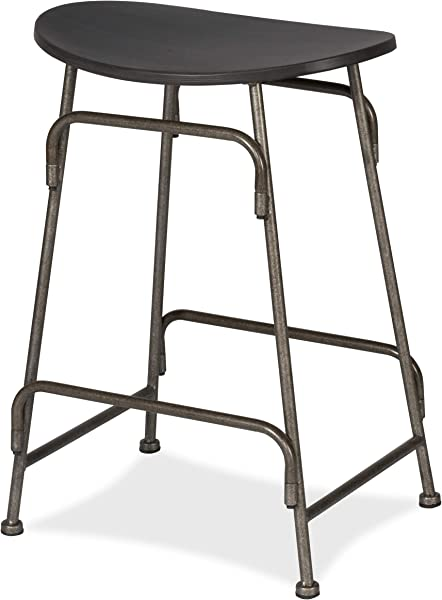 Hillsdale Mitchell Backless Non Swivel Counter Stool Dark Weathered Gray