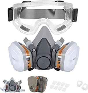 Reusable Half Facepiece Cover Set For Gas Respirator Painting Welding Woodworking and Other Work Protection, Against Dust ...
