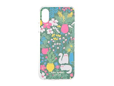Kate Spade New York Jeweled Garden Posy Phone Case For iPhone XS (Green Multi) Cell Phone Case
