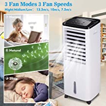 Yescom 200W Portable Indoor Evaporative Air Cooler Ice Fan Cooler for Room Humidifier 1647CFM Remote Control Home Office