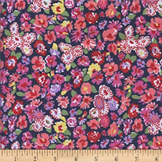 Newcastle Fabrics Navy Printed Flannel Meryl Fabric by The Yard