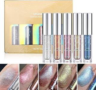 UCANBE Glitter & Glow Liquid Eyeshadow Set 3D Shimmer Metallic Waterproof Creamy Eye Gloss Makeup Kit Set 3