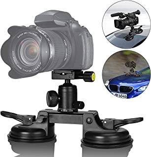 3-Cup Action Camera Suction Cup Mount Motion Camcorder Car Windshield Hood Door Trunk Lid Holder//w Ball Head Compatible with GoPro Sony DJI OSMO Action Akaso Apeman YI Sports DV Cam Vehicle Mounts