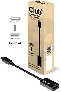 Club3D DisplayPort 1.4 to HDMI 2.0b HDR(ハイダイナミックレンジ)対応 4K 60Hz Active Adapter 変換アダプタ(CAC-1080)