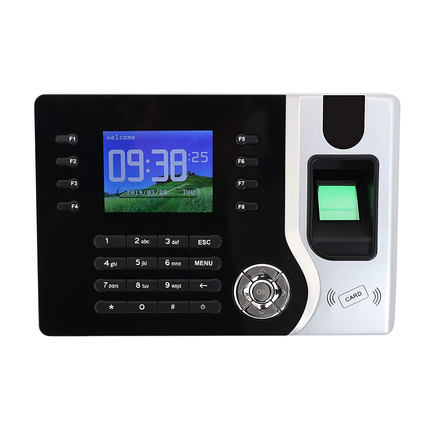 Biometric Time Clock with ID Card - Timeclocks for Business Helps You to Keep Your Business Salary Well Organized, Very Easy to Operate - just Plug and Play! Wise buy