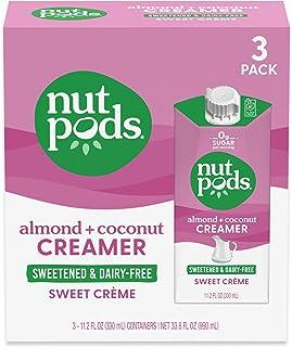nutpods Keto-friendly Sweet Crème Sweetened coffee creamer, Zero-Sugar, 5 Calories per serving, Dairy-Free, WW, Gluten Fre...