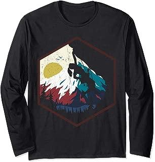 Bouldering Rock Climbing Vintage Gift Design Long Sleeve T-Shirt