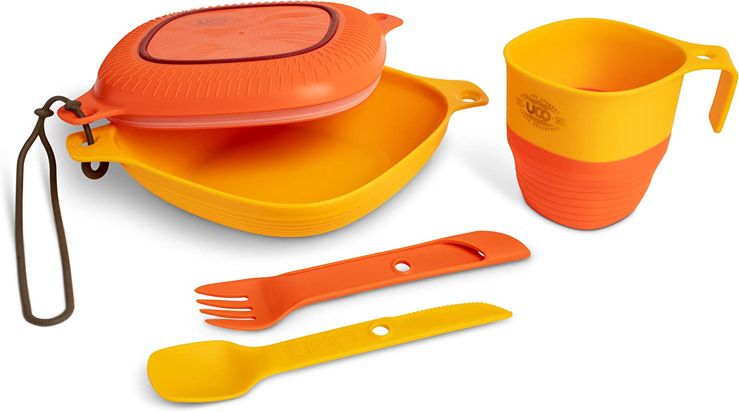 UCO 6-Piece Great interest Camping Max 76% OFF Mess Kit with Cup Camp Swi and Plate Bowl