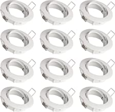 SEBSON 12x Inbouwspot Zwenkbaar incl. GU10 Fitting (LED/Halogeen) - Boorgat Ø75mm, Wit Gepoedercoat Aluminium, Plafondspot...