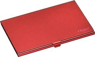 Digio2 SDメモリーカードケース(丈夫なアルミ素材) レッド MCC-801R