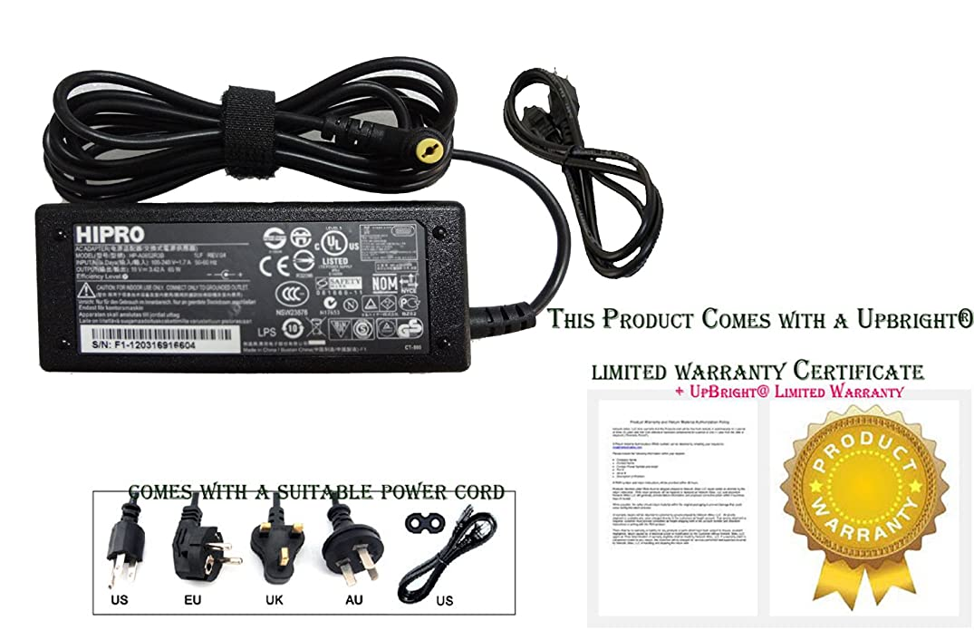 Hipro Original HP-A0652R3B AC Adapter 19V 3.42A 65W With Power Cable