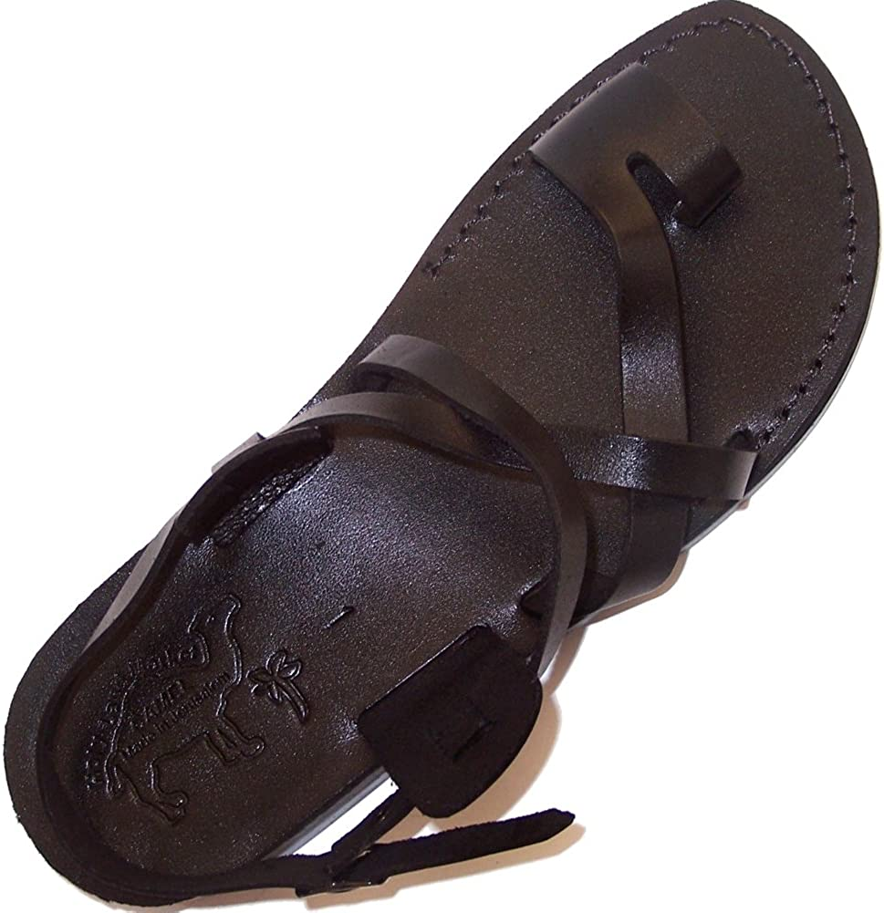 Holy Land Market Unisex Genuine Jesus High quality Sandals Leather Year-end gift Biblical