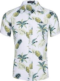 Camisa Hawaiana Hombre 3D Estampada Funky Camisas Manga Corta Hawaii Shirt M-XXL