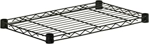 Honey-Can-Do SHF350B1436 Steel Wire Shelf for Urban Shelving Units, 350lbs Capacity, Black, 14Lx36W