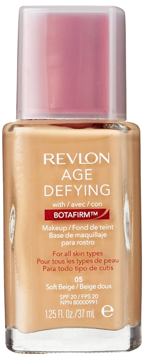 れんが深くフィットネスREVLON AGE DEFYING WITH BOTAFIRM MAKEUP #05 SOFT BEIGE
