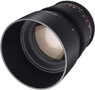 Samyang F1313001101 Obiettivo VDSLR per Canon EF, 85 mm, Apertura T1.5-22 AS IF UMC II, Diametro Filtro 72 mm, Nero
