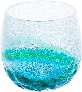 泡でこたるグラス 水色/緑