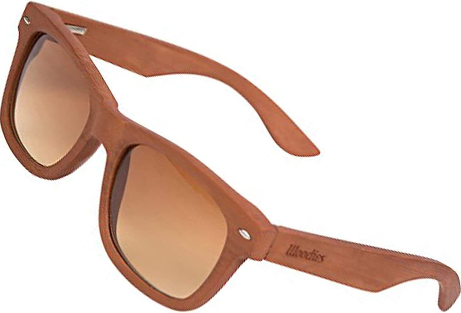 WOODIES Polarized Dark Grain Full Bamboo Wood Sunglasses for Men and Women | Polarized Lenses and Real Wooden Frame | 100% UVA/UVB Ray Protection