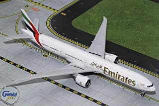 GEMINI G2UAE771 GeminiJets Gemini200 Emirates B777-300ER 1: 200 Scale Diecast Model Airplane, White