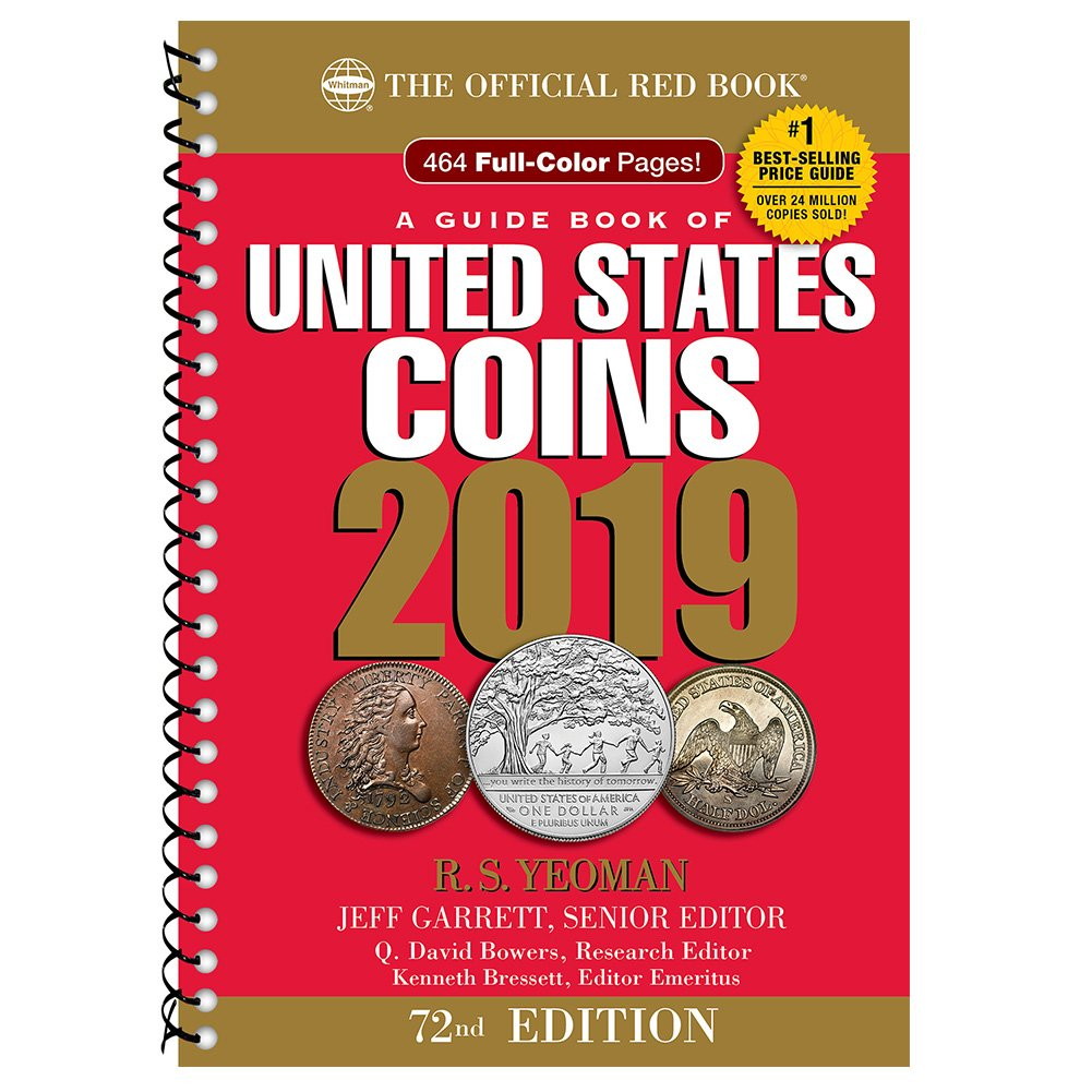 2019 official red book of united states coins spiral bound r s2019 official red book of united states coins spiral bound 72nd edition