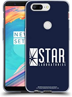 Official The Flash TV Series Star Labs Logos Soft Gel Case Compatible for OnePlus 5T