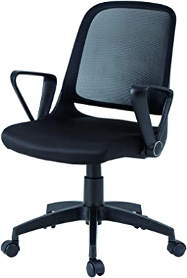 FLAMROSE オフィス家具 オフィスチェア デスクチェア 360度回転 コンパクト 事務椅子 メッシュチェア