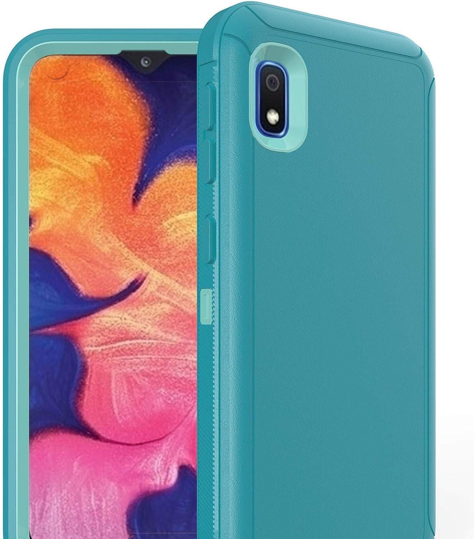 Defender Case for Samsung Galaxy A10E,[NO Screen Protector][Heavy Duty][Drop Protection] Tough Case for Galaxy A10E - with Holster/Clip Aqua