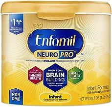 Enfamil NeuroPro Infant Formula - Brain Building Nutrition Inspired by Breast Milk - Reusable Powder Tub, 20.7 oz (Pack of 4)