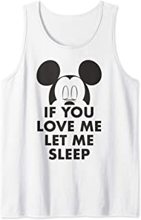 Disney Mickey And Friends Mickey If You Love Me Let Me Sleep Débardeur