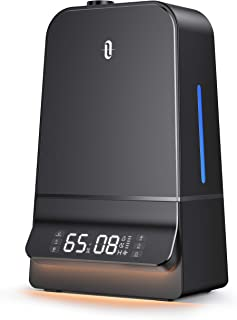 TaoTronics Humidifiers, 6L Ultrasonic Cool Mist Humidifier with Humidistat, 26dB Whisper Quiet, LED Display, Wide Opening,...