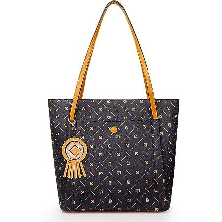 Pomelo Best Handtasche Damen Shopper Groß Damen Tasche für Büro Schule Einkauf (Dunkelblau)
