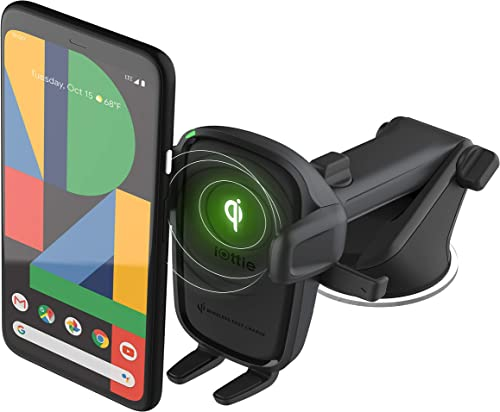 iOttie Easy One Touch Wireless 2 Qi Charging Car Mount || for iPhone, Samsung, Moto, Huawei, Nokia, LG, Smartphones