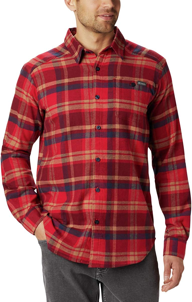 Columbia Men's Cornell Woods Flannel Long Sleeve, Comfort Stretch