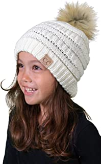 Kids Baby Toddler Cable Knit Children's Pom Winter Hat...
