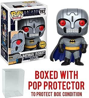 Funko Pop! DC Heroes: Batman The Animated Series - Batman Robot CHASE VARIANT #193 Vinyl Figure (Bundled with Pop BOX PROTECTOR CASE)