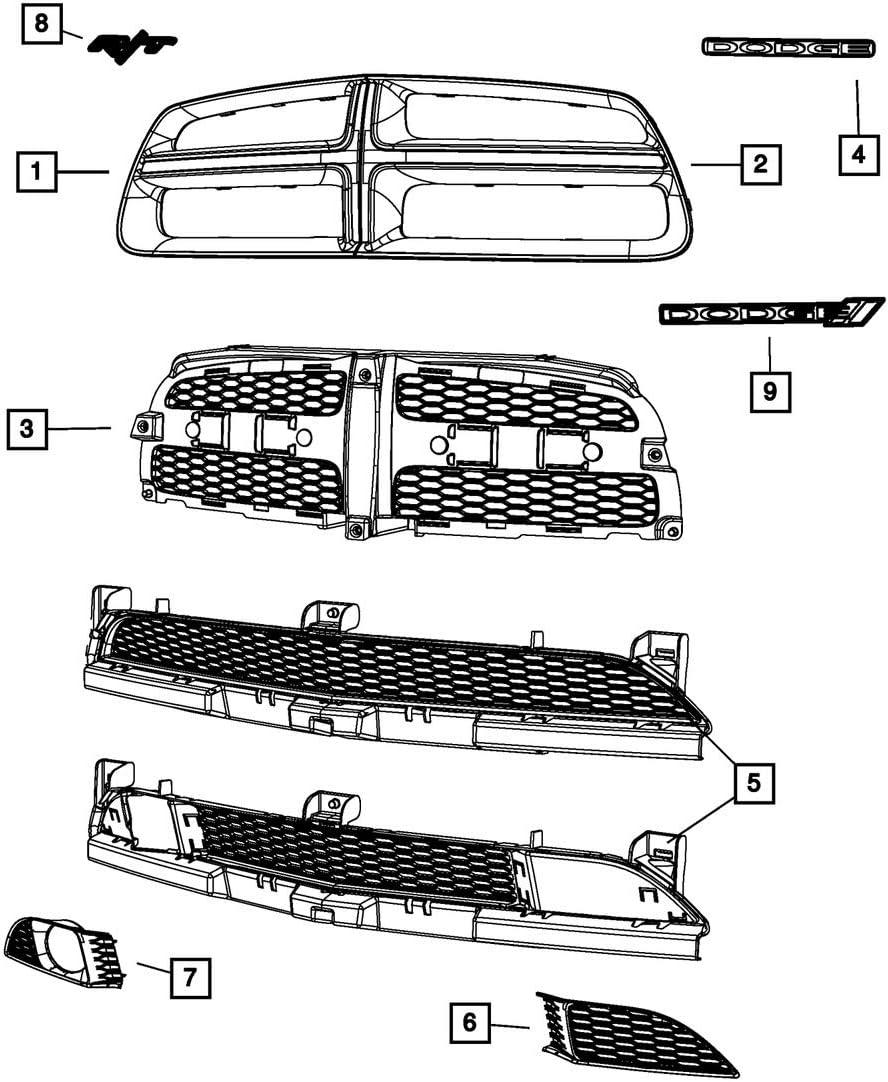 dodge charger grill emblem 2 2 Dodge Charger R/t Grille Emblem Nameplate Mopar Oem